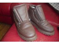 SIZE 5 PAIR CHOCOLATE BROWN LADIES ANKLE BOOTS COST £20 WORN ONCE