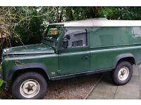 300Tdi Defender 110 van back 1994 in Coniston Green