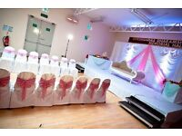 Chair cover hire from 75p and lots more