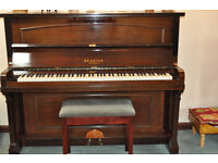 BRASTED ( London) Overstrung Upright Piano and Padded Music Stool