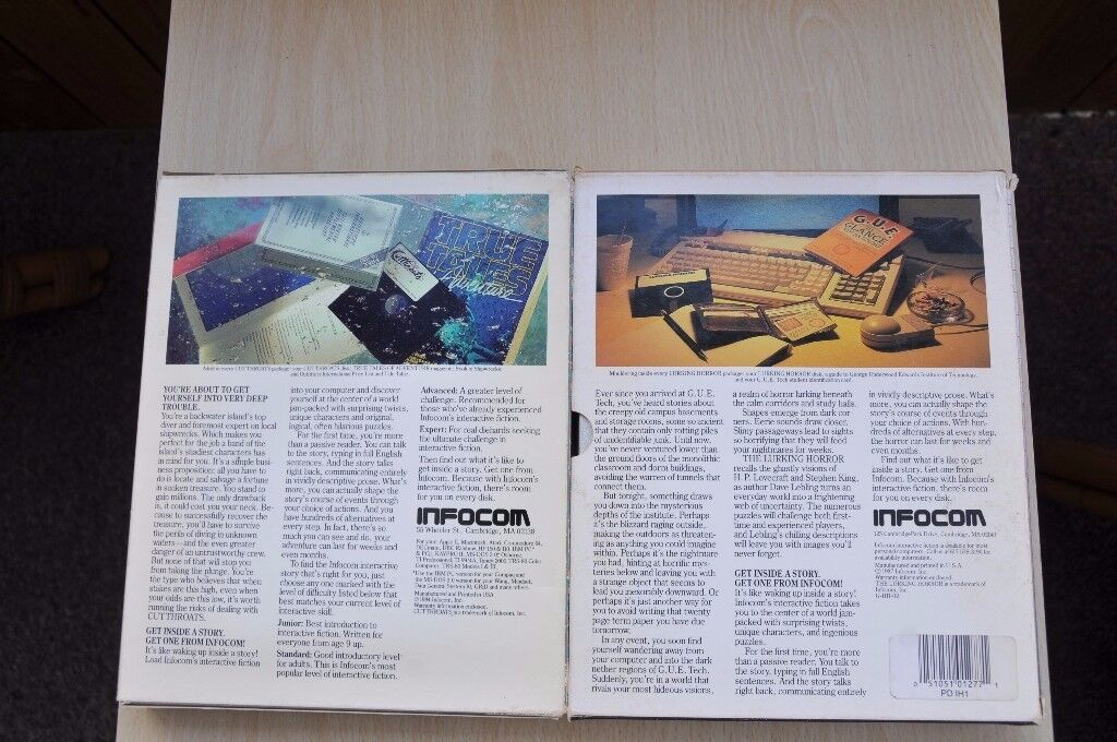 Very Rare PC Infocom games - Cuttroats and The Lurking Horror, Thatcham, Berkshire