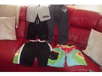 AGE 11-12 YEARS SELECTION OF BOYS CLOTHES SWIM SHORTS, JOG PANTS, JOG FLEECE SHORTS