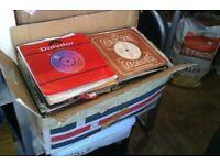 "job lot approx 300 box full of 7"" vinyl records rock pop chart 60s 70s 80s"