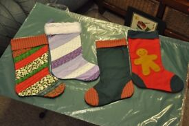 ****ONLY 24 DAYS TO XMAS**** hand made christmas stockings £4 each