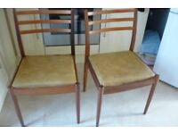 4 x retro vintage G Plan Dining Chairs