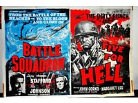 ORIGINAL BRITISH QUAD DOUBLE FEATURE OF BATTLE SQUADRON/FIVE FOR HELL STUNNING IMAGE