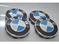 4 x BMW WHEEL CENTRE CAPS 10 Pin Clips 68mm badge FITS 1 3 5 7 E F M X Z Series
