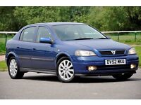 2002 Vauxhall Astra 1.6 i 16v SXi 5dr+12 MONTHS MOT+SERVICE HISTORY+READY TO DRIVE AWAY