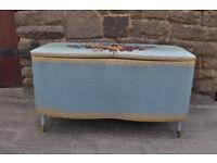 vintage mid century loom blanket box chest ottoman
