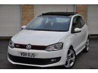 2011 VW POLO GTI DSG PAN ROOF LOW MILES NOT GOLF SEAT IBIZA FR CUPRA FABIA VRS FIESTA ST CORSA VXR