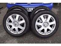 VW GOLF ALLOY WHEELS V6 4MOTION Mk4 VOLKSWAGON WITH TYRES