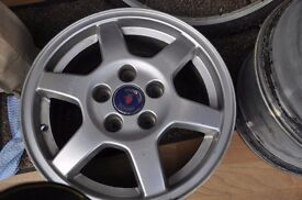 set of $ Saab Alloys in good condition