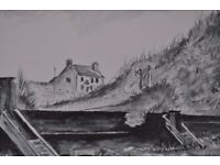 Water color original painting of the kings arms in Seaton sluice