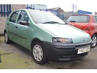 FIAT PUNTO 1.2 8V 5d 59 BHP PX TO CLEAR (green) 2002