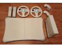 Nintendo Wii with Balance Board & Guitar Hero