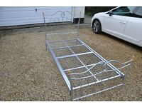 Single Bed in strong aluminium and in excellent condition.