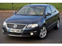 2007 Volkswagen Passat 1.9 TDI 4 DOORS+SPORT+DIESEL+LEATHER+FREE WARRANTY+JUST SERVICED