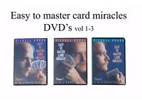 Michael Ammar easy to master card miracles DVD set of 3
