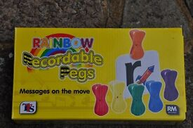 Recordable pegs.