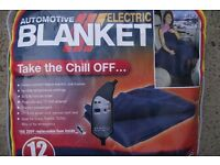 12v Electric Blanket ideal for TruckVanMotorhome Elderly Person item is as new unused MADE IN USA