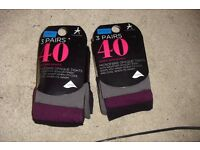 NEW 2 PACKS OF SIZE M 3 COLOURED 40 DENIER TIGHTS NEW STILL IN PACKET