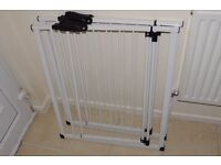 Pair of baby stairs metal safety gates