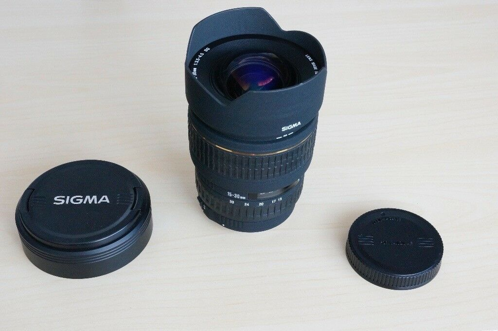 SIGMA 15-30 MM F/3.5-4.5 EX DG WIDE ANGLE LENS FOR CANON EF FULL ...