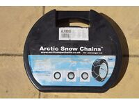 Snow chains for car. used once. very good condition