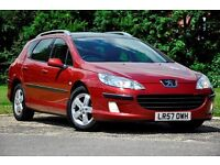 2007 Peugeot 407 SW 1.6 HDi SE 5dr+PANORAMIC SUNROOF+FULL SERVICE HISTORY+12 MONTHS MOT