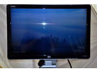 """HP W2207H 22"""" Widescreen LCD Monitor, built-in Speakers"""