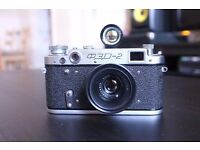 Fed 2 Rangefinder camera, with 2 lenses and 35mm viewfinder