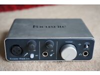 Focusrite iTrack Solo (£100 on Amazon)