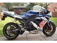 2007 YAMAHA YZF R1 BLUE WHITE GP £3100