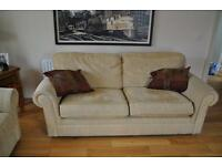 Sofa for sale M&S gold 3,2,1 settee and chair.