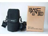 Nikon 80-400mm lens (boxed)