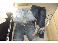 "SELECTION OF MEN'S CLOTHES SIZE 32"" WAIST JEANS + JEANS SHORTS"