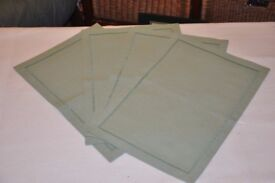 ****ONLY 24 DAYS TO XMAS**** 4 hand made sage green place mats £5