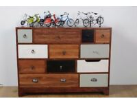 Vintage Multi-Coloured 12 Drawer Chest - Free Delivery - New