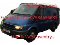 Man with Transit van , From £10 ,Ikea , Currys , Pc world , Sofa , Bed , machine , B & Q , any time