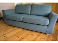 3 seater sofa with 2 arm chairs and banquette stool (RRP £900)