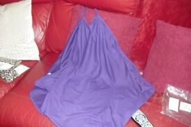 BRAND NEW STILL SEALED IN BAG SIZE 14/16 PURPLE BEACH DRESS