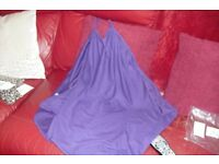 BRAND NEW STILL SEALED IN BAG SIZE 14/16 PURPLE BEACH DRESS