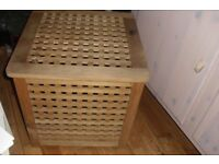 """IKEA"" SQUARE PINE STORAGE BOX WITH LID HEIGHT 20"" SIZE 20"" X 20"""