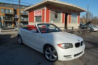 2009 BMW 128I i DECAPOTABLE CUIR ROUGE