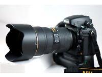 Nikon D800 + Battery grip + Nikkor 24-70mm + Nikon AF-S 50mm 1,8G