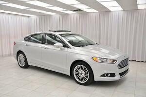 2016 Ford Fusion SE ECOBOOST AWD SEDAN w/ LEATHER, BLUETOOTH, 18