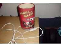 """""""DISNEY CARS"""" BEDSIDE LAMP IN RED RALLY CUTE LITTLE LAMP"""