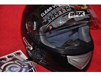 BOX MOTORCYCLE HELMET BX-1 BLACK SIZE XL