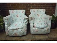 Pair of Vintage Tub Chairs for Upcycling