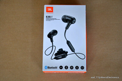 NEW JBL E25BT WIRELESS IN-EAR HEADPHONES BLUETOOTH COLOR: BLACK FAST FREE SHIPPI
